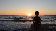 The Little Boy and the Sea Little Boys, Relax, Entertainment, Celestial, Sunset, Outdoor, Sunsets, Outdoors, Toddlers