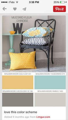 I'm thinking this to be our color scheme for the apartment...can't paint walls but I can paint my furniture (;