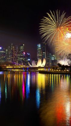 New Year Fireworks on the Bay in Singapore 2014 - Someone please take me home...