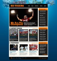 Are you looking for a ready, steady, go type Sports HTML Website Templates? Then just rush for our these outstanding free & premium website templates. Free Html Website Templates, Html Templates, Team Schedule, Sports Website, We Are The Champions, Free Resume, Sample Resume, Web Design, Design Ideas