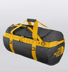 The North Face Large Base Camp Duffle - Asphalt Grey/Yellow $160.00
