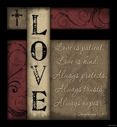 LOVE+IS+PATIENT,+LOVE+IS+KIND+ALWAYS+PROTECTS+Primitive+Wood+Sign+Home+Decor