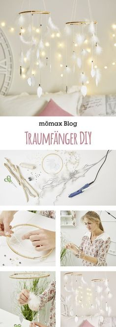 Dream Catcher DIY- Traumfänger DIY Simply make Dreamcatcher yourself! Instructions on the … - Diy Tumblr, Diy Décoration, Easy Diy, Star Deco, Bohemian Crafts, Bohemian Decor, Bohemian House, Boho Diy, Diy Pinterest