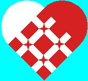 Danish woven hearts and many other patterns. Erik Ginnerskov - Sjove julehjerter