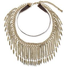 Steve Madden Gold Leaf Fringe Choker Necklace ($34) ❤ liked on Polyvore featuring jewelry, necklaces, gold, gold tone necklace, choker necklaces, gold choker necklace, gold leaf jewelry and short necklaces