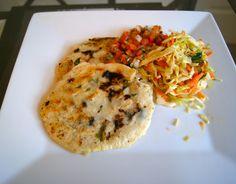 Papusas! An El Salvadorian Specialty with vinegar cabbage slaw and pico de gallo.  Dessert Before Dinner: