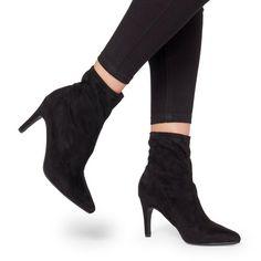 046c154c22c Oliana - BlackPointed High Heel Sock Boot £58.00 £46.00 Socks And Heels