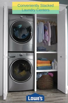"Explore our internet site for additional relevant information on ""laundry room stackable washer and dryer"". It is a great place to read more. Laundry Room Closet, Storage Room, Laundry Mud Room, Laundry Dryer, Ventless Dryer, Washer Dryer Laundry Room, Stackable Washer And Dryer, Room Closet, Laundry"