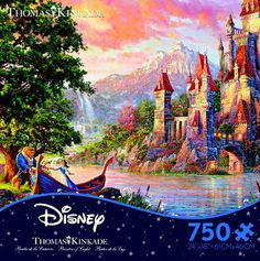 I love these Thomas Kinkade Disney puzzles! Most of the time they are over 1,000 pieces, but 500-750 is the perfect size.