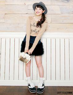 フェイクスカートがかわいい♡ ☆小学生ファッション スタイルの参考コーデ☆