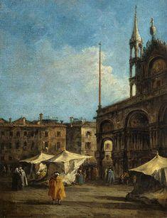 Francesco Guardi (Venise, 1712 - 1793), Vue de la place Saint-Marc, à Venise, vers 1760