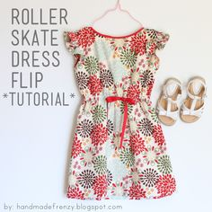 "Hi friends!      Last week I showed you the  Roller Skate Dress ""flip""  I did for the Flip This Pattern series over at Frances Suzanne...."
