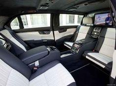 Mercedes Benz S600 Pullman interior