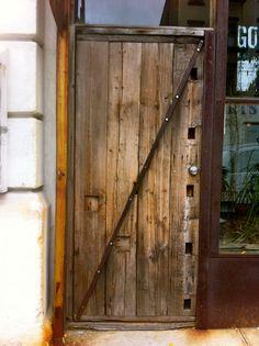 Reclaimed Wood Door, South Slope, Brooklyn, NY