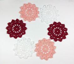 Mini crochet doilies Set of 6 crochet di Handmadesfiopi su Etsy