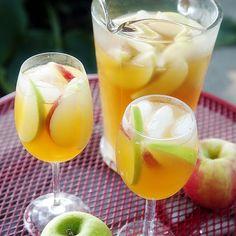 Caramel Apple Sangria Recipe Beverages, Cocktails with pinot grigio, caramel vodka, apple cider, granny smith apples