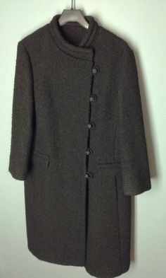 VINTAGE Lord & Taylor Young New Yorker Black Winter Dress Coat #LordTaylor #BasicCoat
