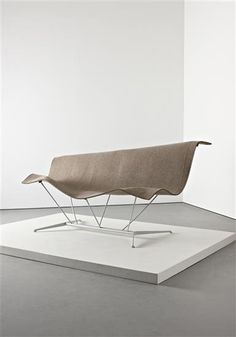 ILKKA SUPPANEN 'Flying carpet' sofa, designed 1998  Fabric, painted steel, painted tubular steel.  101 x 93.5 x 99 cm. (39 3/4 x 36 3/4 x 39 in.) Manufactured by Cappellini, Italy.