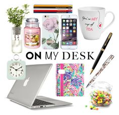 """My desk"" by u0919na ❤ liked on Polyvore featuring interior, interiors, interior design, home, home decor, interior decorating, Speck, Pfaltzgraff, Parker and Caroline Gardner"