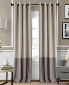 Keep your room full of chic modern style and free from unwanted light with this Braiden panel from Elrene, rendered from smooth blackout fabric featuring a sleek, colorblocked design. | Polyester | Ma