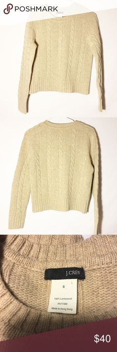 J. Crew lambswool sweater 100% lambswool! Size small! Very comfy, cute and cozy! Make an offer! J. Crew Sweaters Crew & Scoop Necks
