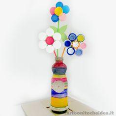 Le bottiglie di plastica possono essere riciclate o possono diventare dei coloratissimi fiori! Rendiamo più vivace e divertente la nostra cameretta con un tocco di primavera!