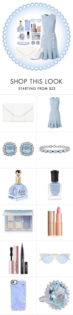 """Blue No.2"" by ann-13 on Polyvore featuring moda, Khirma Eliazov, Dolce&Gabbana, Miadora, Deborah Lippmann, Anastasia Beverly Hills, Too Faced Cosmetics, Garrett Leight y Casetify"