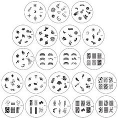 Bundle Monster Nail Art Nailart Polish Stamp Stamping Manicure Image Plates Accessories Set Kit 21pc $17.99 ~ Great designs and much cheaper than Konad!