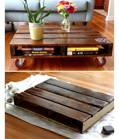 DIY Pallet Coffee Table | DIY Home Decor Ideas on a Budget | Click for Tutorial | DIY Home Decorating on a Budget