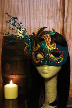 Water Fairy Masquerade Mask with Glitter Clip by MmmPieProd Etsy Coupon Code: HALLOWEEN gets you 20%0ff!