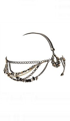 Spring Racing Fashion: Mimco - Aqua Disco Chain Headpiece