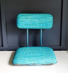 FOR SALE  $22.99  Its football season again!!!  Show up to the stadium and choose to be comfortable instead of sitting on those cold hard metal bleachers.  This stylish turquoise vintage stadium seat folds in half for easy carrying and has two metal clamps on the bottom to hold the chair in place on the bleachers. With such a great price, you better get it before it is gone!  by NashvilleKindofLife on Etsy