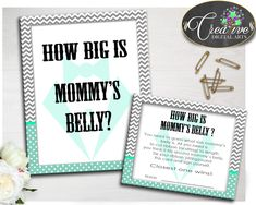This is Baby Gentleman Ho.... Go see it here http://snoopy-online.myshopify.com/products/baby-gentleman-how-big-is-mommys-belly-little-man-boy-shower-game-mint-green-printable-digital-files-jpg-pdf-instant-download-lm001