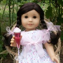 "This Glass of Pink Punch looks so refreshing!  It comes topped with fluffy white topping and colorful sprinkles.  This is the Perfect beverage for your 18"" inch Dolls; American Girl Dolls, Baby Dolls, Madame Alexander Dolls or any other toy around that size!  Would go great alongside any of my Cu..."