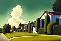 """""""A Day With James"""" by R.Kenton Nelson, oil on board, 2001, image courtesy of Eleanor Ettinger Gallery"""