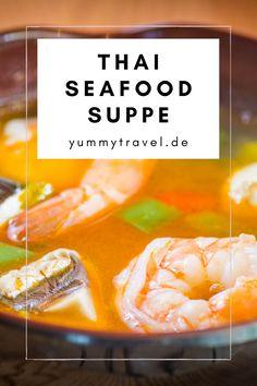 Dieses Suppe heißt in Thailand Poh Tak und ist ganz einfach mit verschiedenen Fischsorten zubereitet. Dieses Gericht fehlt auf keinem Night market und du kannst das Rezept mit wenigen Zutaten aus dem Asialaden zubereiten. Garnelen | Fisch | Suppen Rezept | Einfaches Rezept | Schnelles Rezept | Thai Küche | Thai Essen | Essen Rezepte | Abendessen | herzhaft | Mittagessen