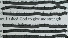 "I asked God to give me strength. - Major Dick Winters in ""Beyond Band of Brothers"""