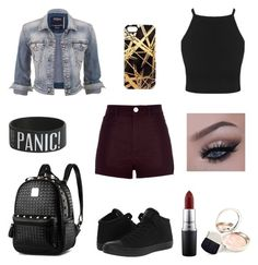 """"""" fashion 305 """" by veronicaleigh777 on Polyvore featuring River Island, maurices, Converse, Khristian A. Howell, MAC Cosmetics and By Terry"""