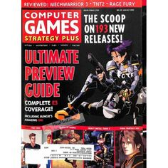Cover Print of Computer Games Magazine, August 1999 | $6.60