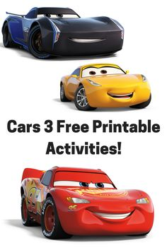 Cars 3 Free Printable Activities Disney Party Birthday Parties