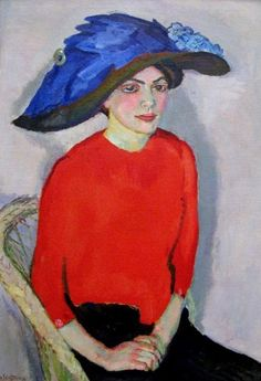 kundst:Jan Sluyters: portrait of a Lady in Red, 1912