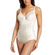 Flexees 1456 by Maidenform Pretty Shapewear Embellished Unlined Body Briefer