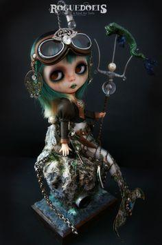 *SOLD* Steampunk Mermaid Custom Blythe doll by Roguedolls http://www.theroguedolls.com