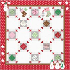 Join me and watch this quilt grow. You'll see a new block appear every Friday for twelve weeks. By the end of 12 weeks, this cute quilt will be done!  Block number two has been added! We h…