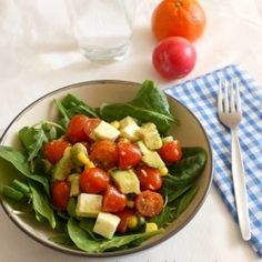 Tomato avocado mozzarella salad by amuseyourbouche