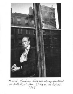 blueblackdream:  Duane Michals, Marcel Duchamp, 1964