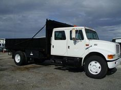 $22,900 - INTERNATIONAL CREW CAB DUMP TRUCK 43K MILES  Tthis is a X-City of Tampa truck with super low miles…Excelent condition! This truck is  for a long term work. Great for any landscape business….give you years of service with no problems……super dependable great 6 cylinder, turbo diesel moto, automatic,  1999 International 4700 DT 466E new tires and batteries, miles, always maintained. For more details please visit: http://goo.gl/7Y83Vs