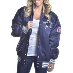 Dallas Cowboys Mitchell   Ness Screen Pass Satin Jacket Dallas Cowboys  Tattoo 905516e4e