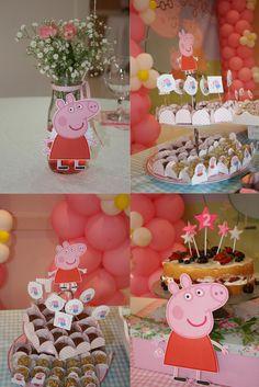 Detalhes de festa com o tema Peppa Pig. Peppa Pig Party