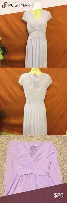 Floor length dress Lavender color Loose and flows Dresses